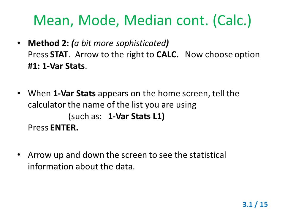 Measures Of Central Tendency Mode Median And Mean Ppt Video