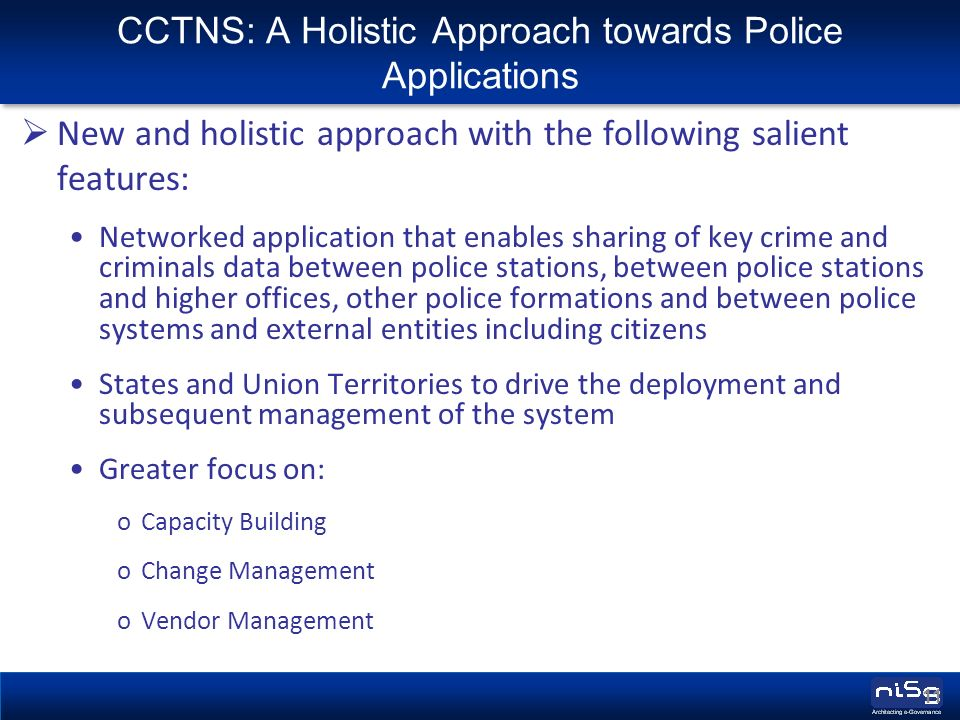Introduction to CCTNS (Crime & Criminal Tracking and Network System