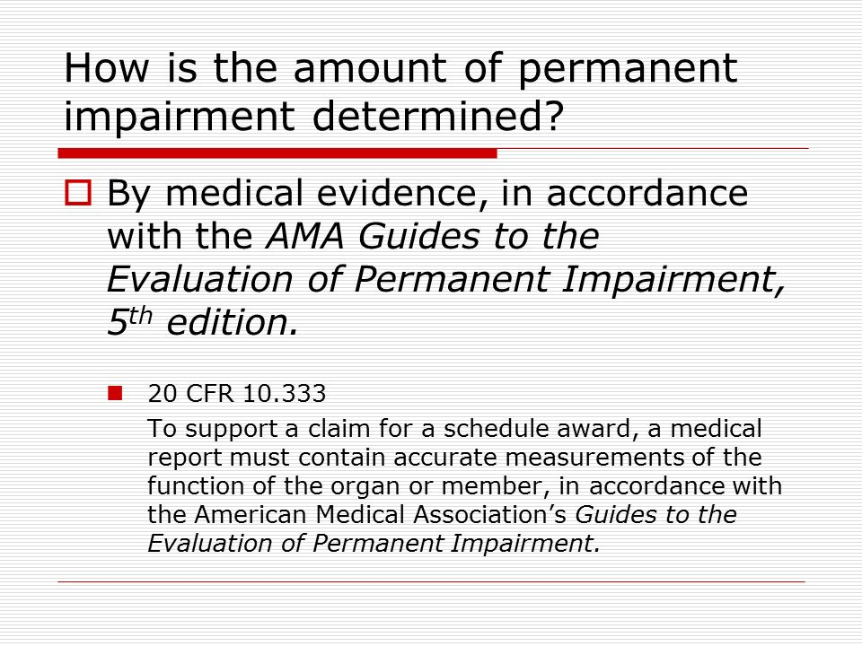 Guides to the evaluation of permanent impairment 4th edition.
