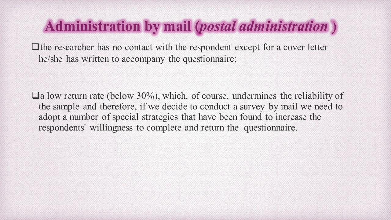 Guidelines for constructing administering a questionnaire ppt 28 administration spiritdancerdesigns Image collections