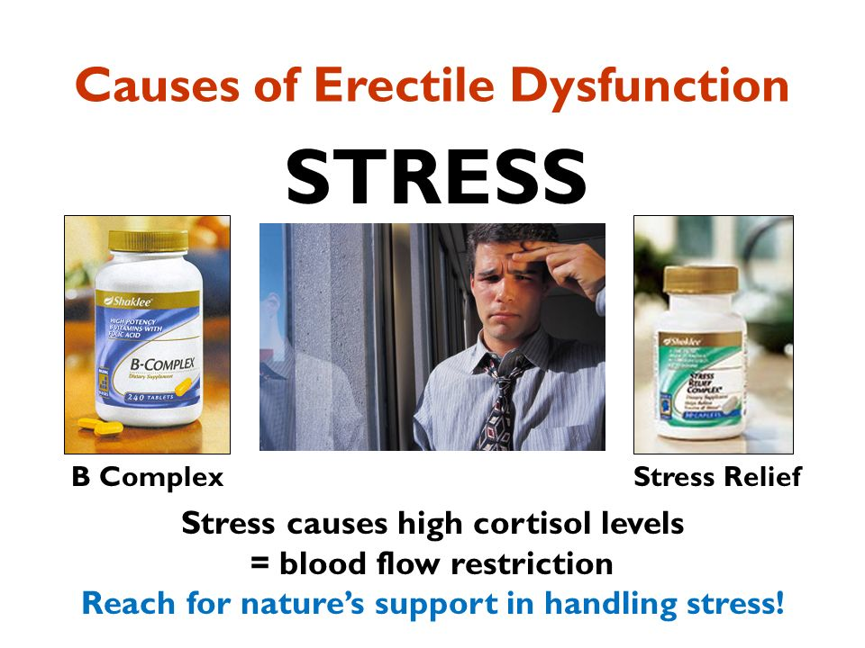 does stress cause erectile dysfunction