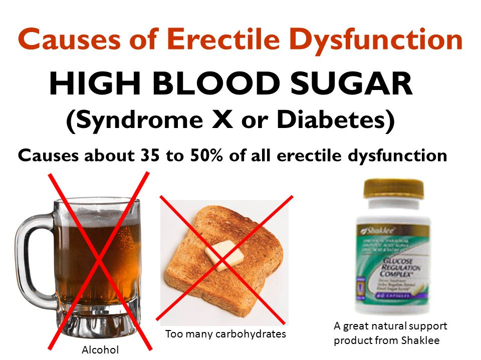 does insulin cause erectile dysfunction