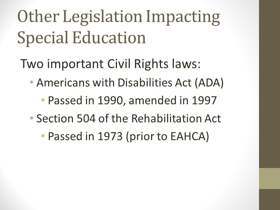Important Special Education Rights That >> Special Education Policies Practices And Programs Ppt Video