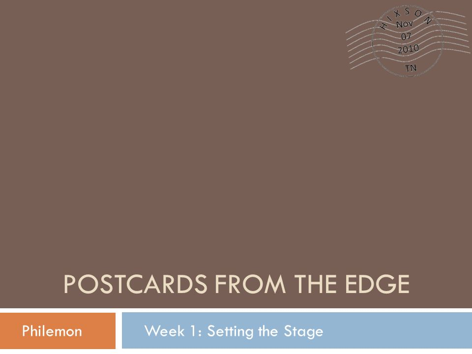 Postcards from the Edge - ppt download
