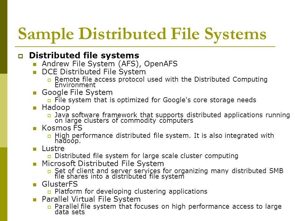 Distributed File Systems - ppt...