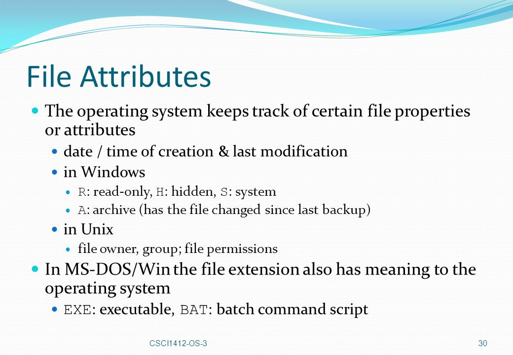Operating Systems 3 File Systems Dr John Cowell - ppt download