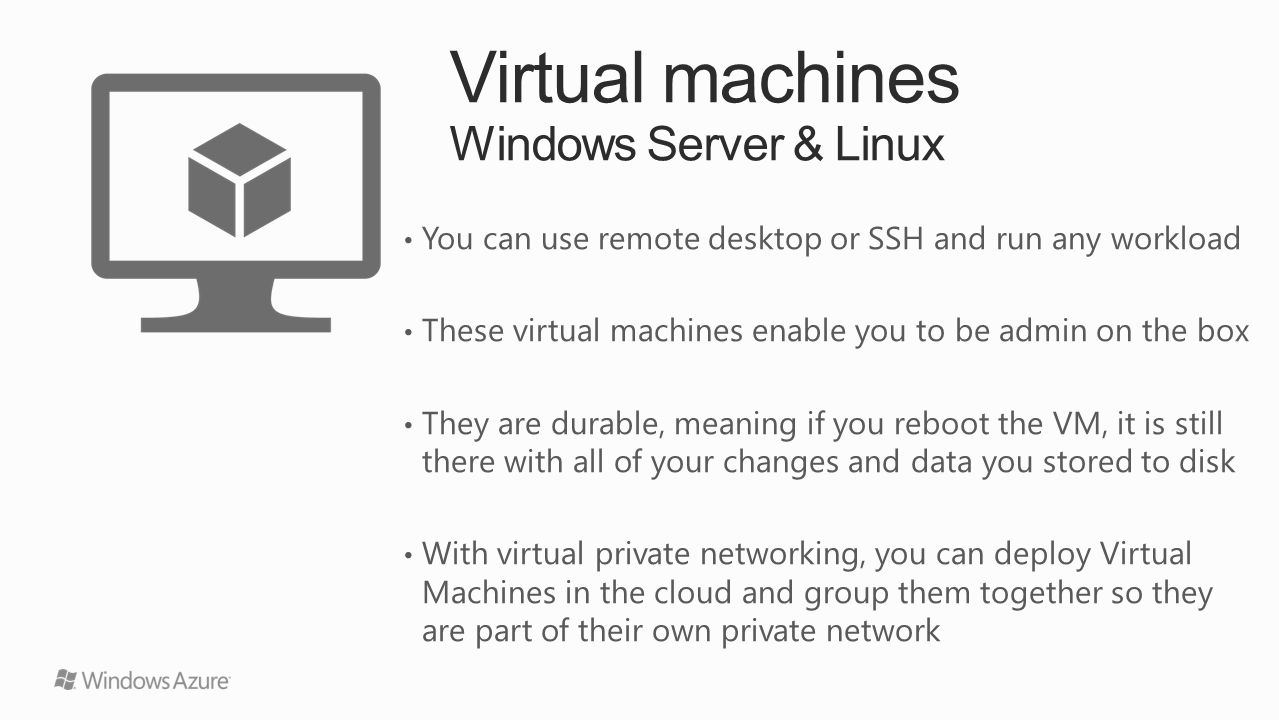 Windows Azure Overview - ppt video online download