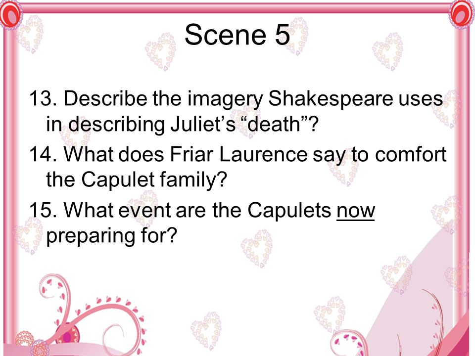 describe the imagery shakespeare uses
