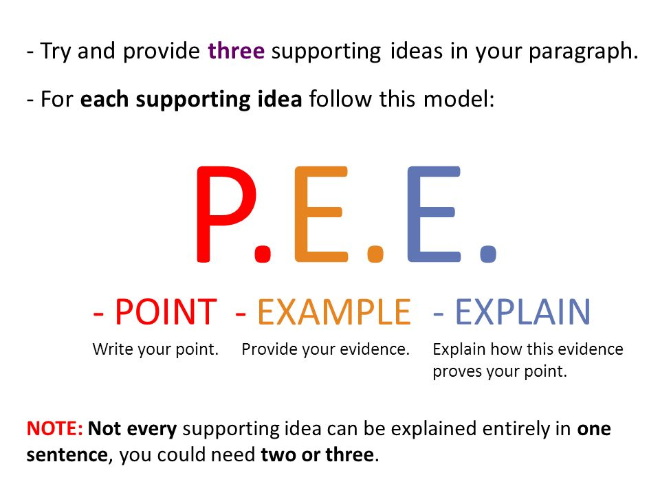 point example explanation