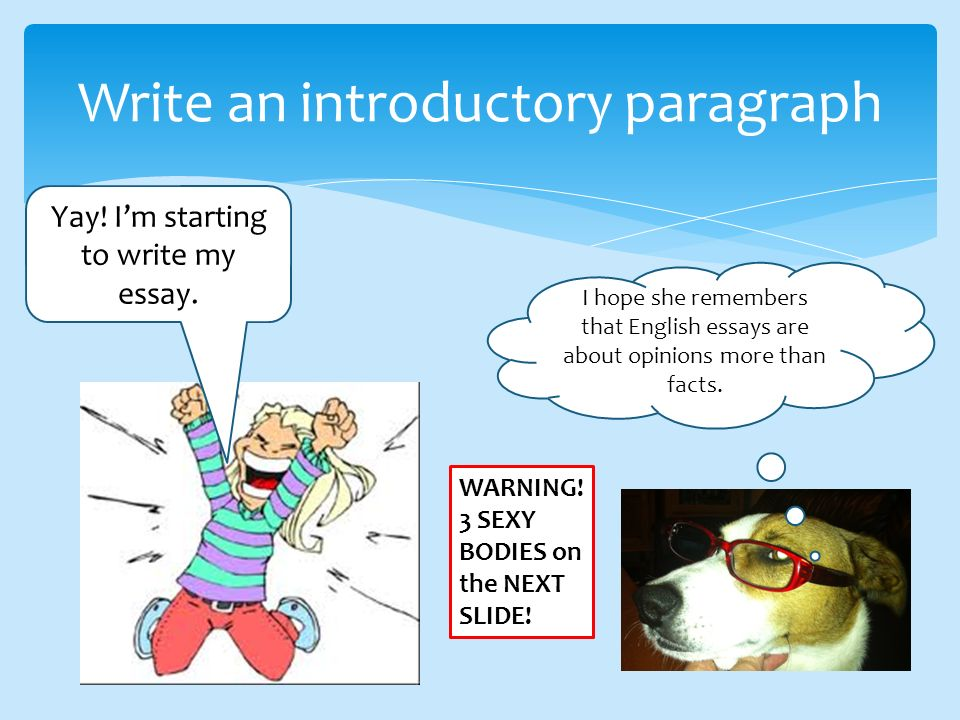 Write an introductory paragraph