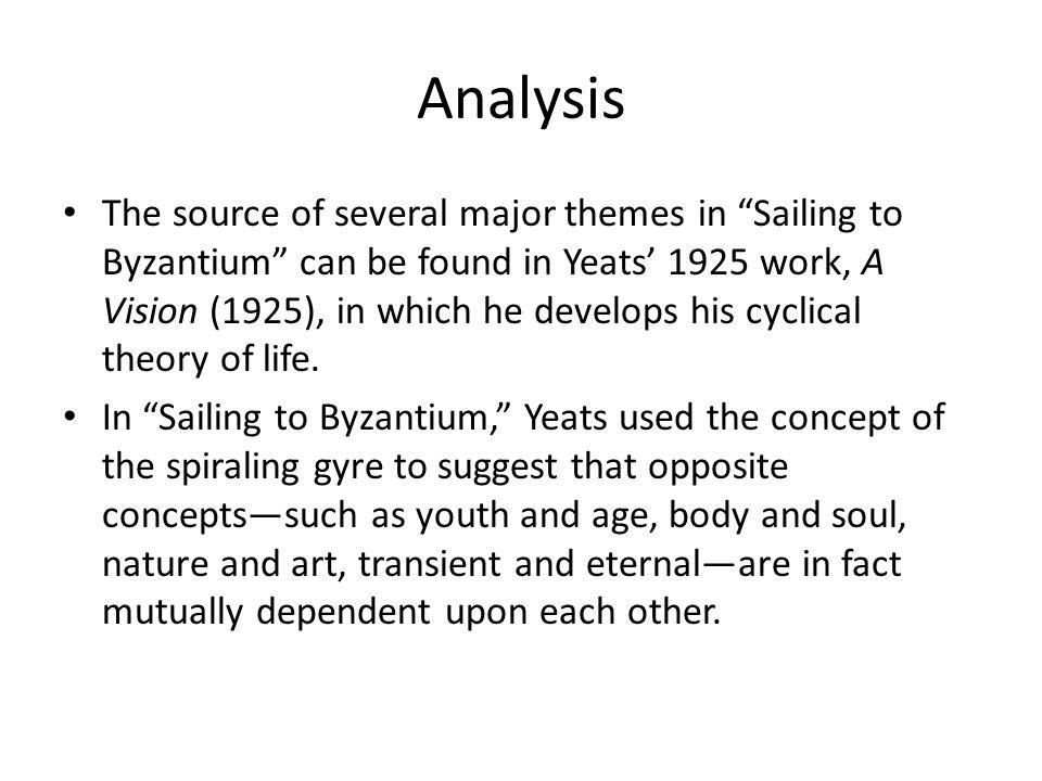summary of the poem sailing to byzantium