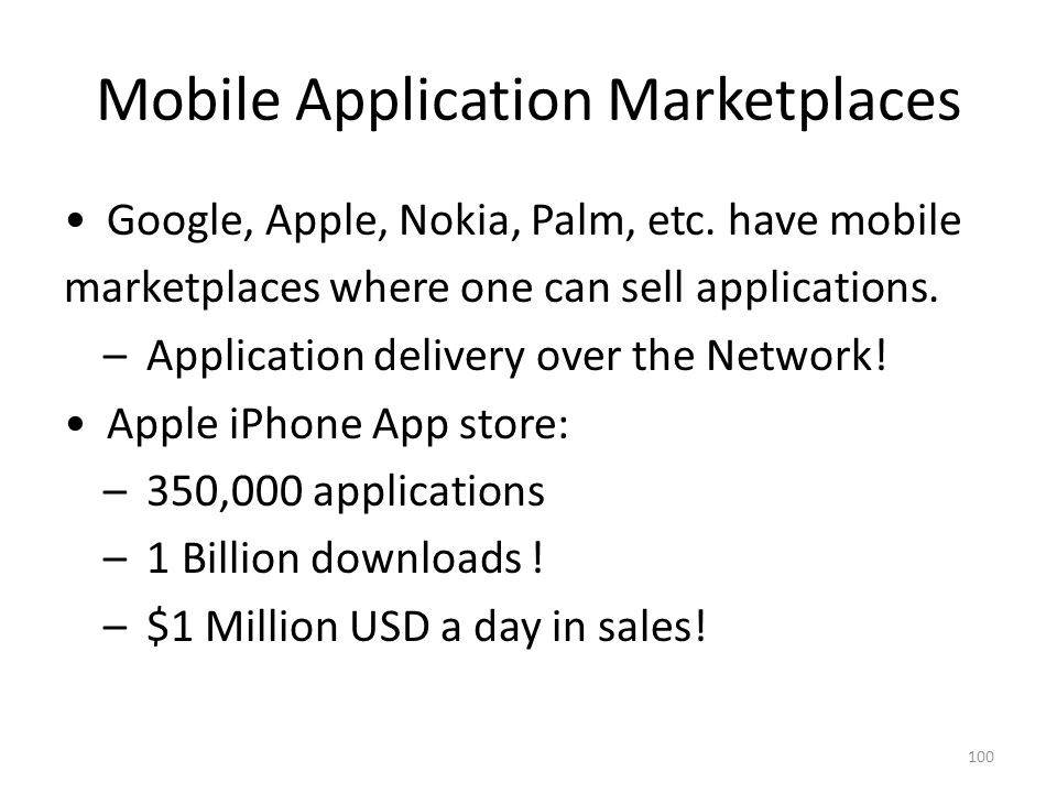 Mobile Application Marketplaces