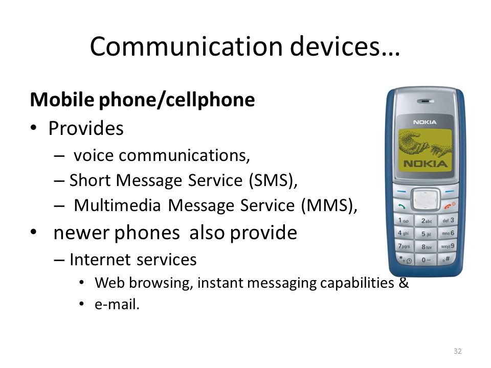 Communication devices…