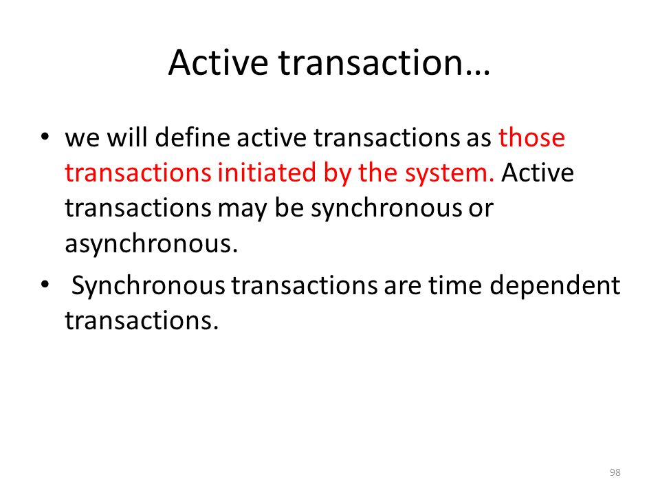 Active transaction…