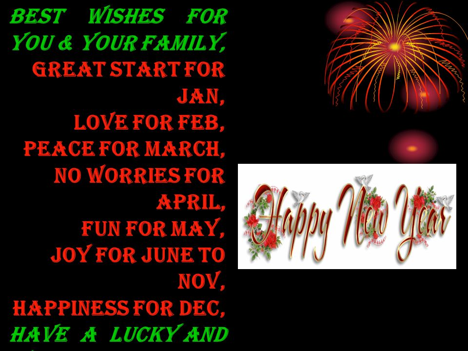 Best wishes for you & your family,