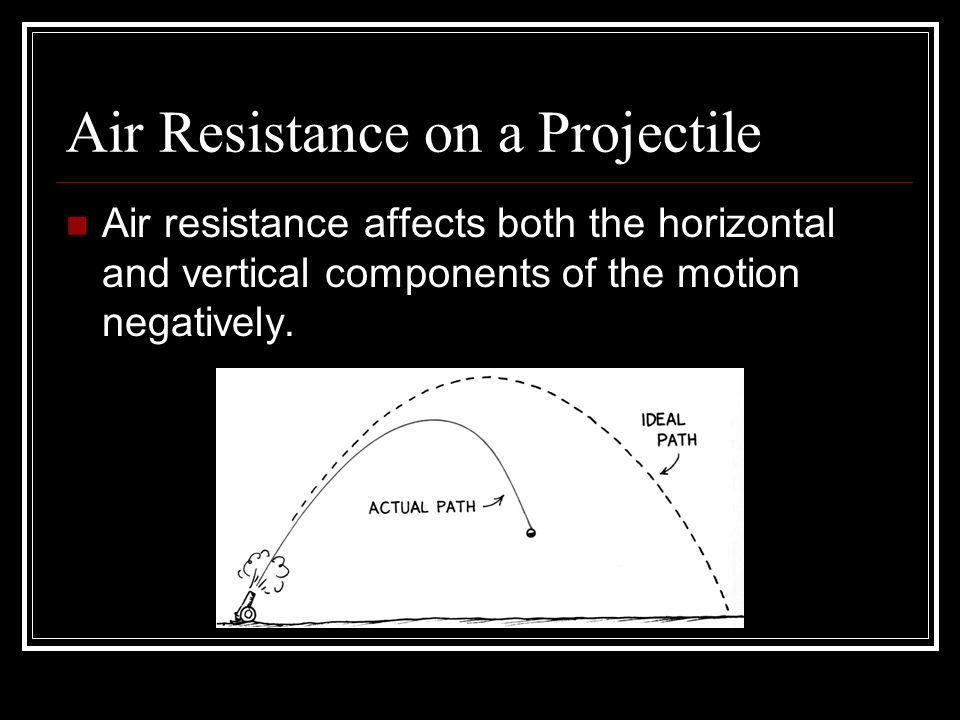 Air Resistance on a Projectile
