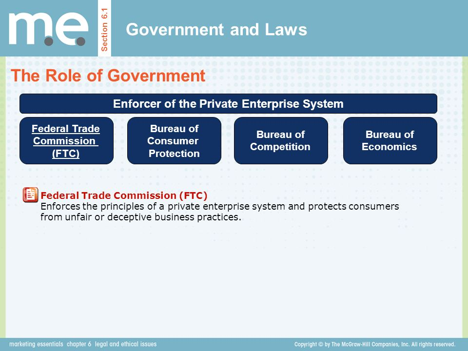 Government and Laws The Role of Government