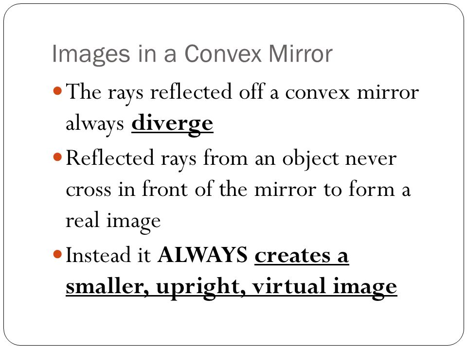 Images in a Convex Mirror