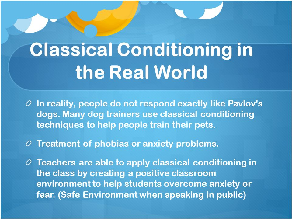 what are some examples of classical conditioning in the classroom