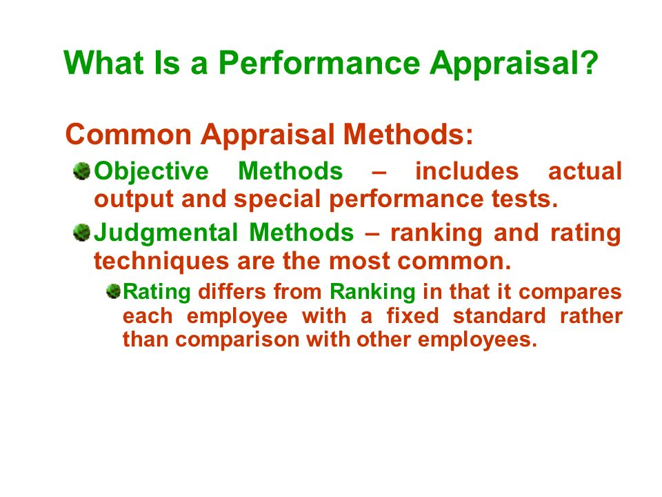 What Is a Performance Appraisal