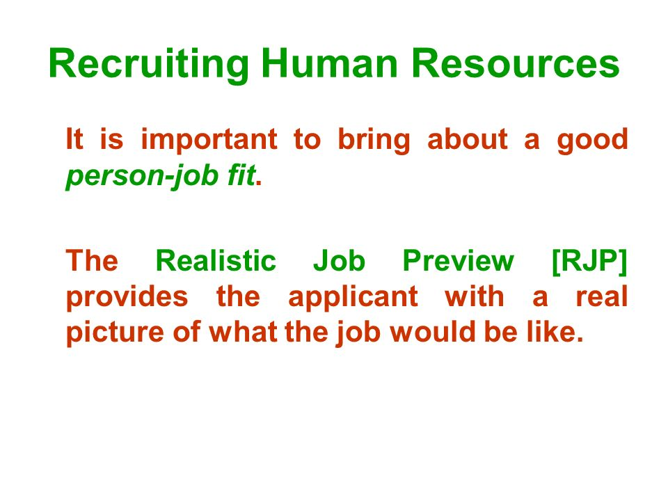Recruiting Human Resources