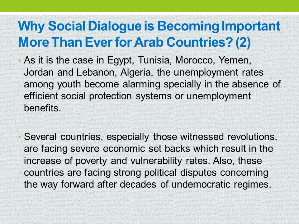 Why Social Dialogue is Becoming Important More Than Ever for Arab Countries (2)