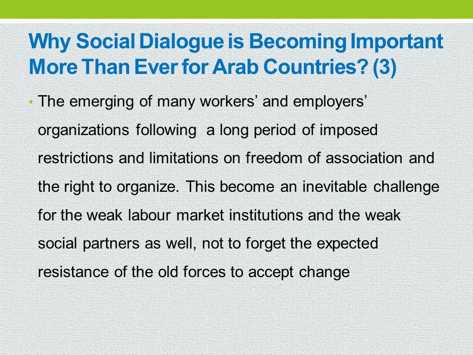 Why Social Dialogue is Becoming Important More Than Ever for Arab Countries (3)