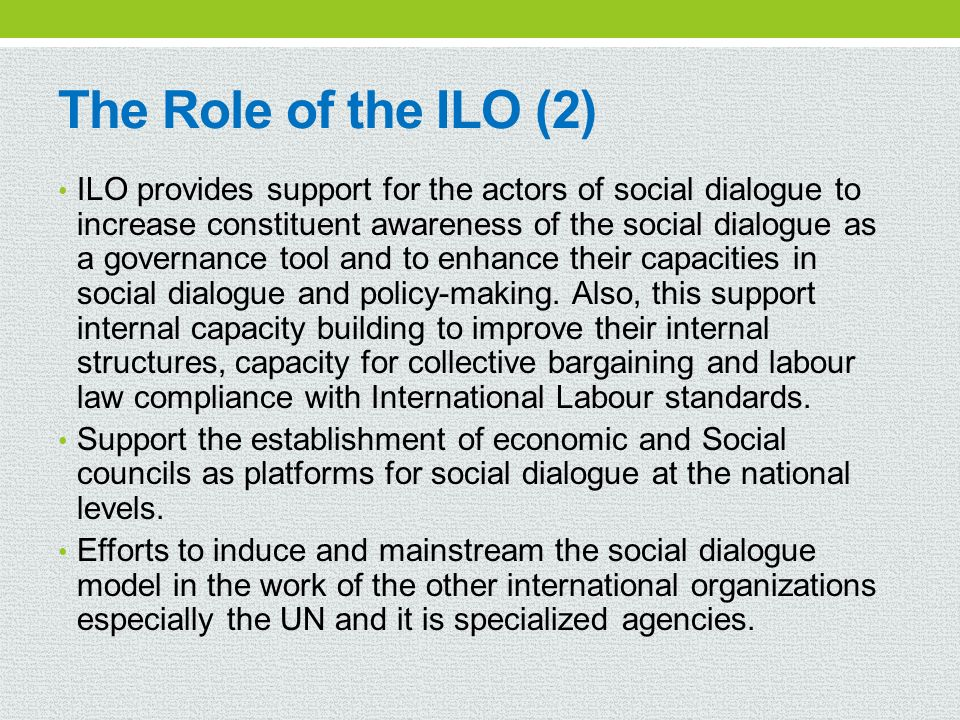The Role of the ILO (2)