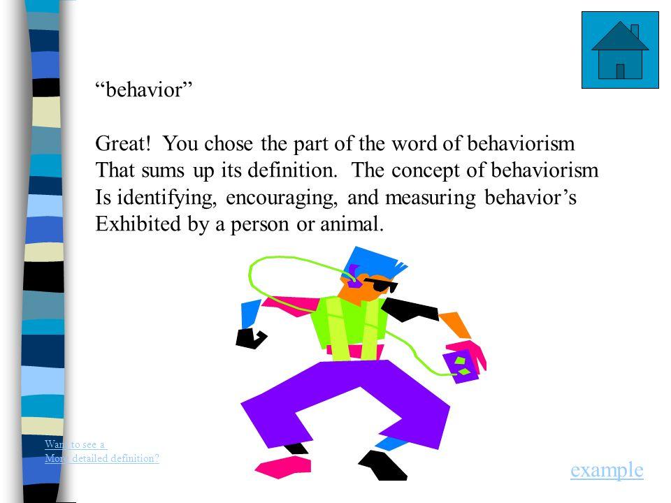 an example of behaviorism