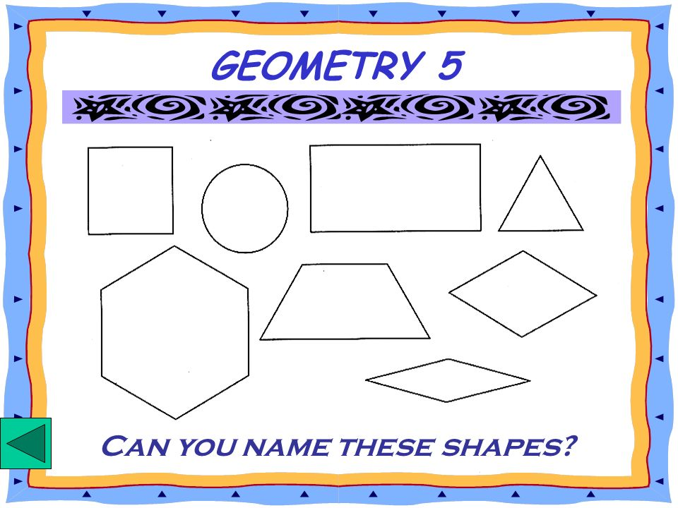 Can you name these shapes
