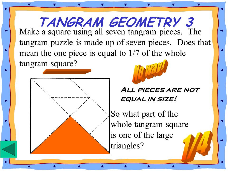 TANGRAM GEOMETRY 3 No way! 1/4