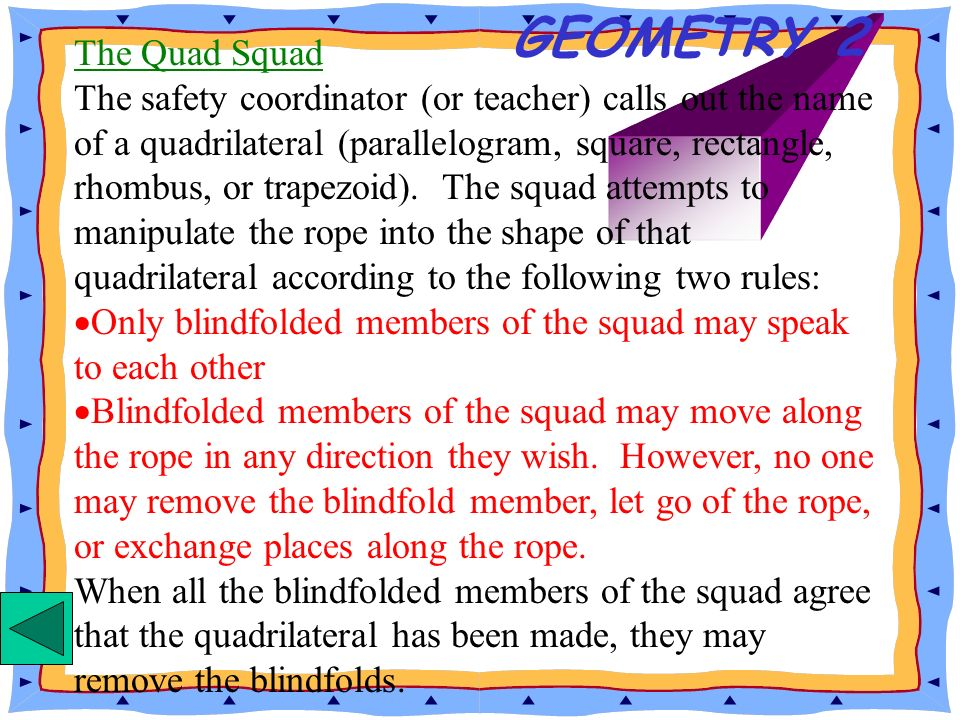 GEOMETRY 2 The Quad Squad