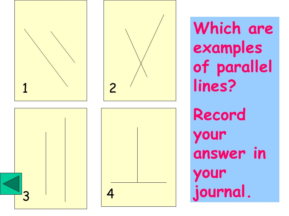 Which are examples of parallel lines