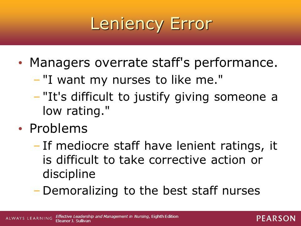 what is leniency error
