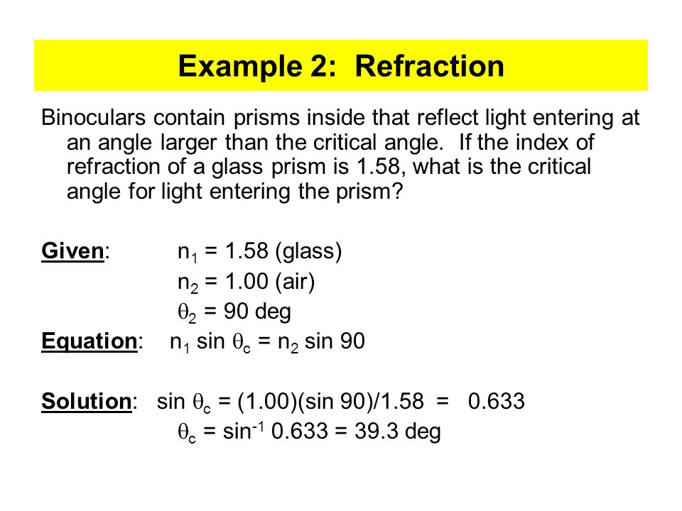 Example 2: Refraction