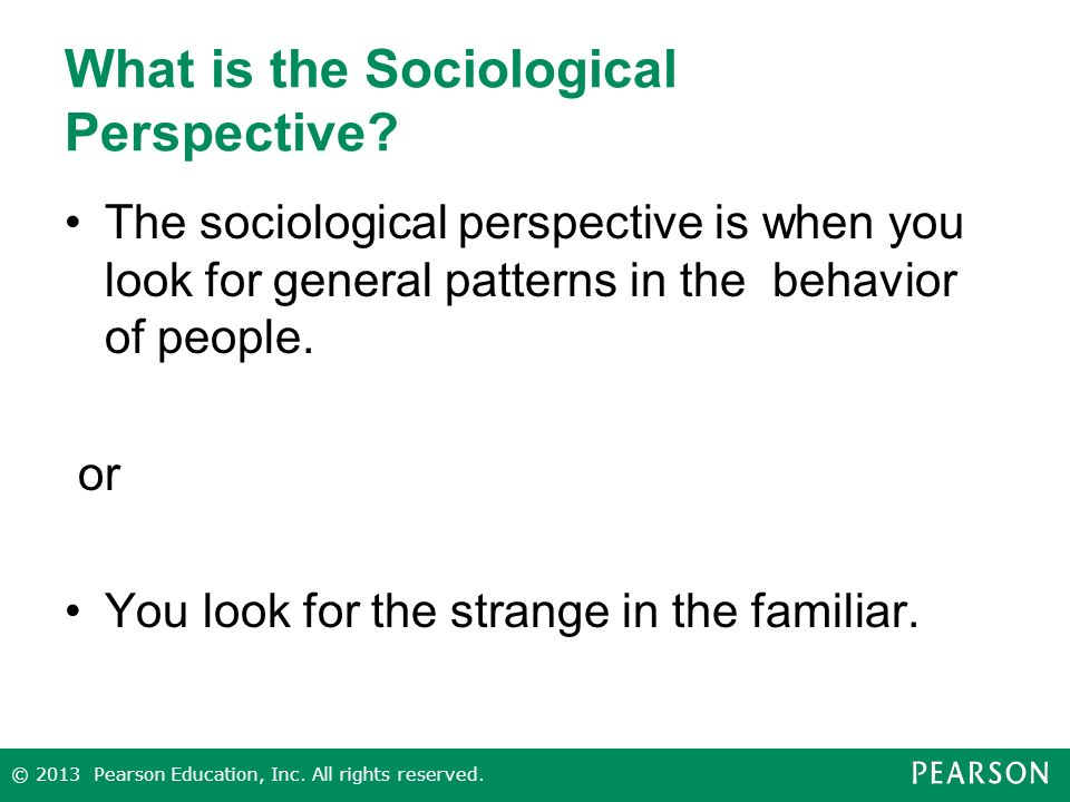 What is the Sociological Perspective