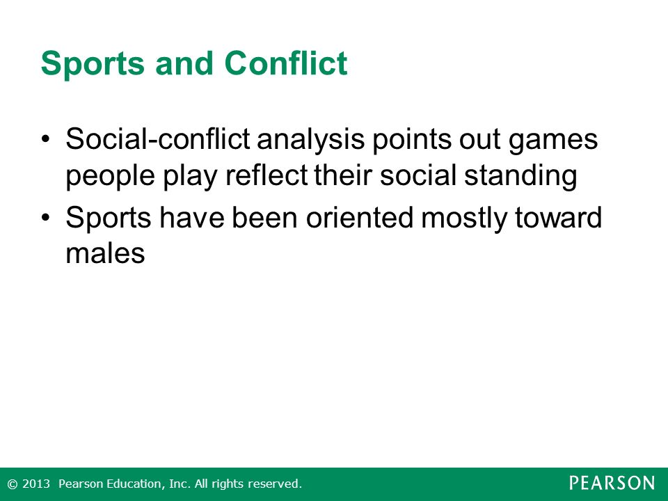 Sports and Conflict Social-conflict analysis points out games people play reflect their social standing.