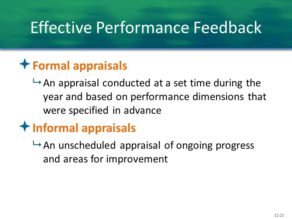 Effective Performance Feedback