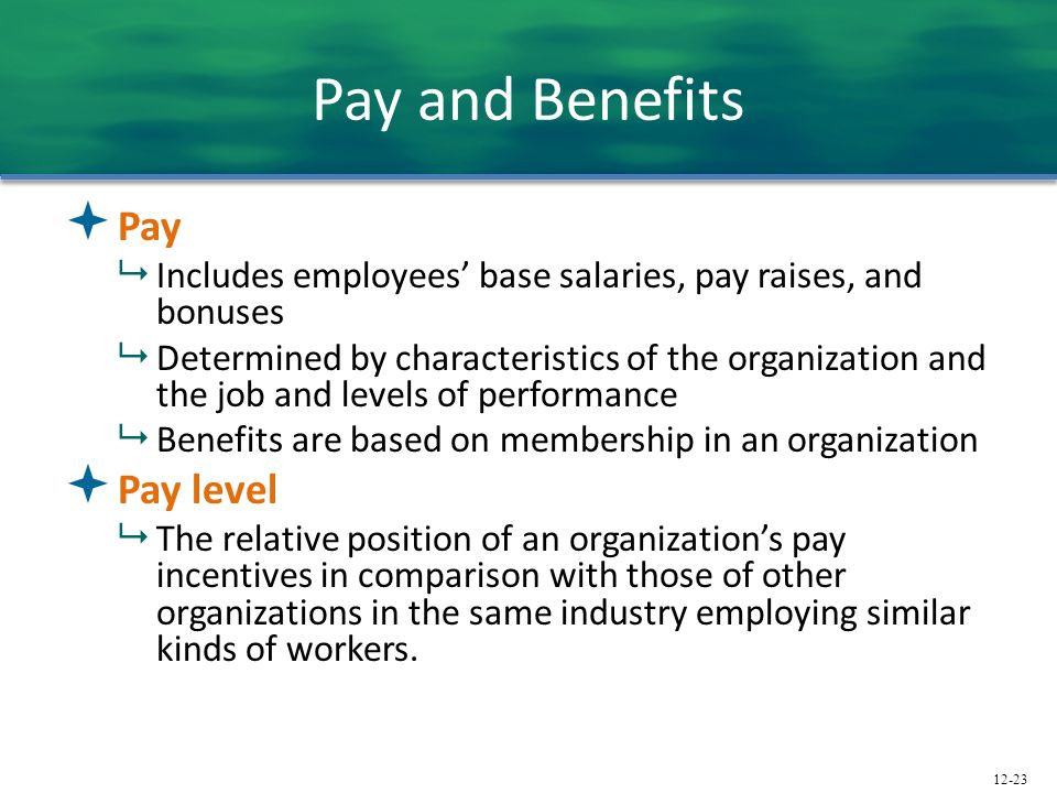 Pay and Benefits Pay Pay level