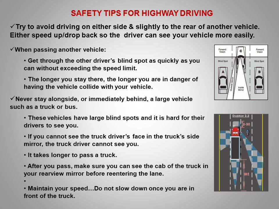 highway driving tips for new drivers