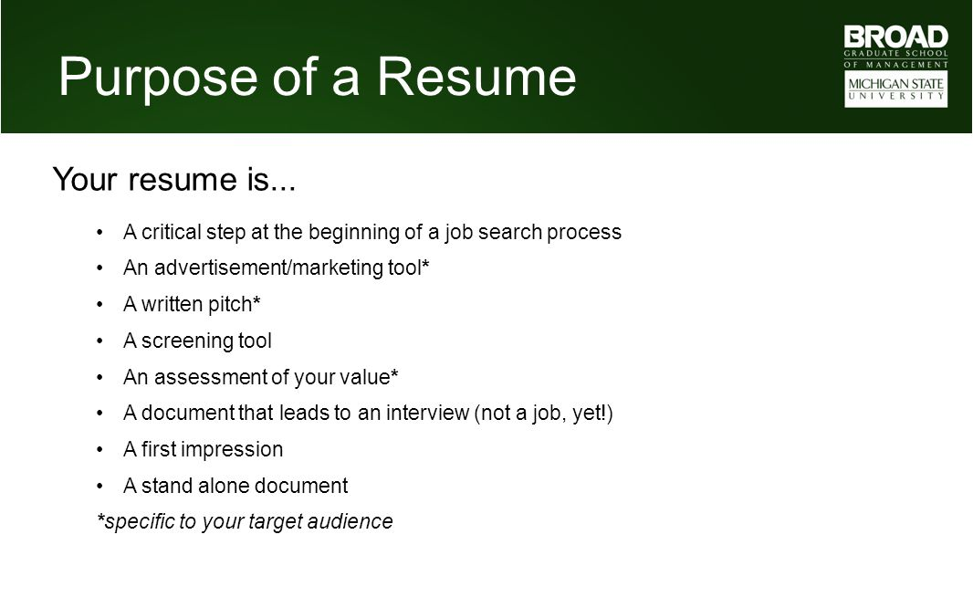 Mba Career Services Center Resume Tutorial Ppt Video Online Download - Resume-tutorial