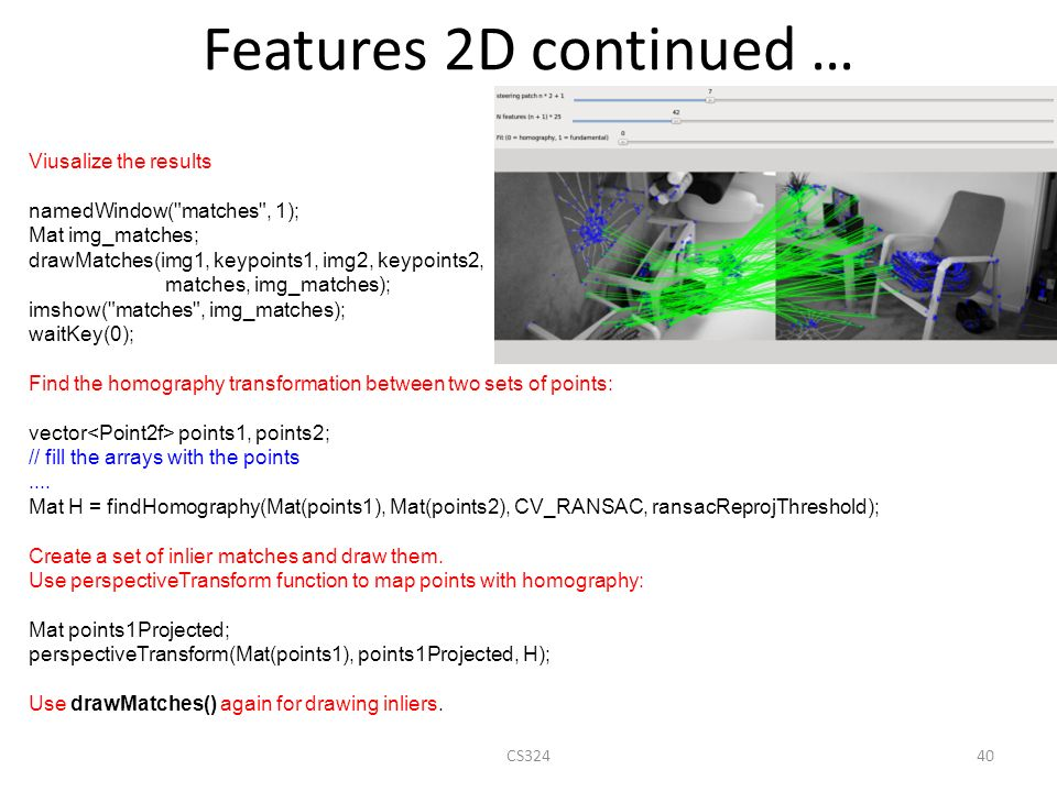 OpenCV Tutorial Omri Perez Adapted from: Gary Bradski - ppt