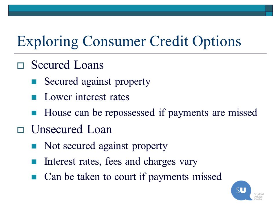 Exploring Consumer Credit Options