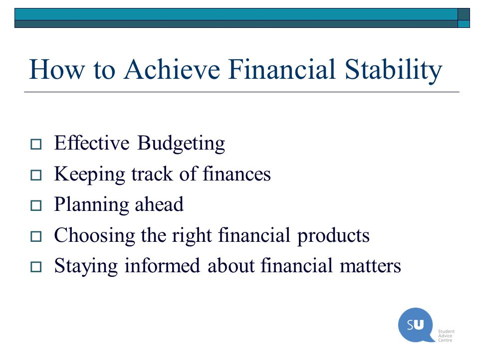 How to Achieve Financial Stability