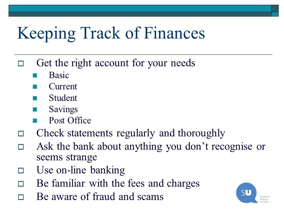 Keeping Track of Finances