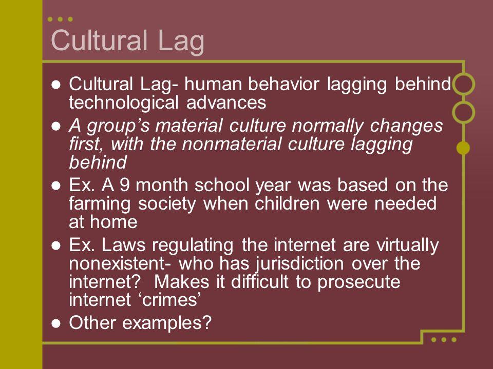 cultural lag examples