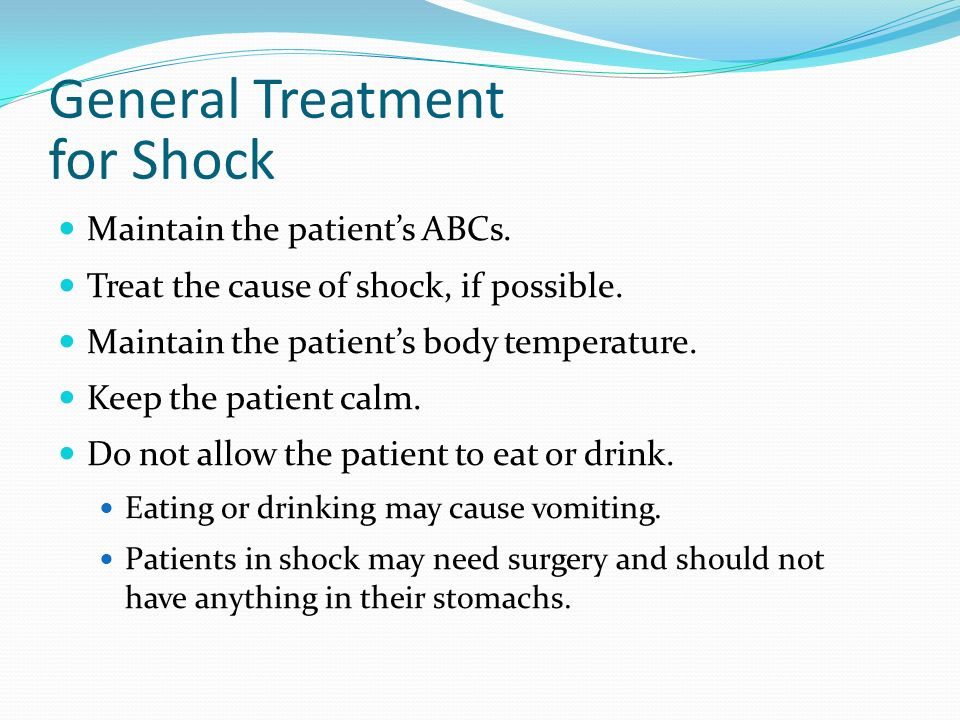 General Treatment for Shock
