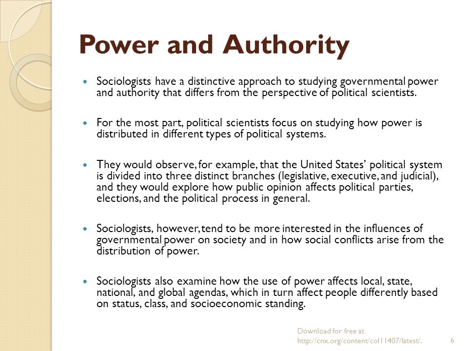 what are the different types of authority