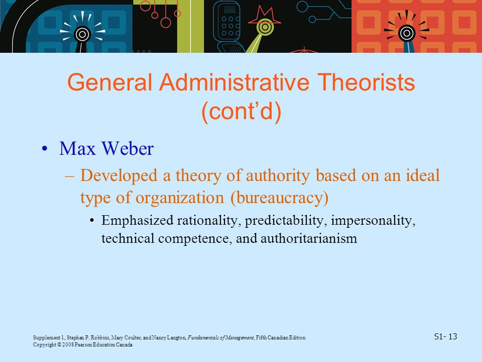General Administrative Theorists (cont'd)