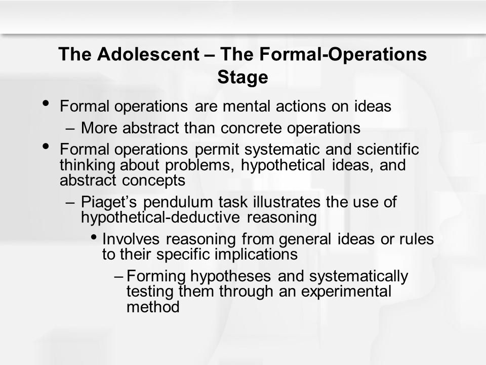 formal operational stage experiments